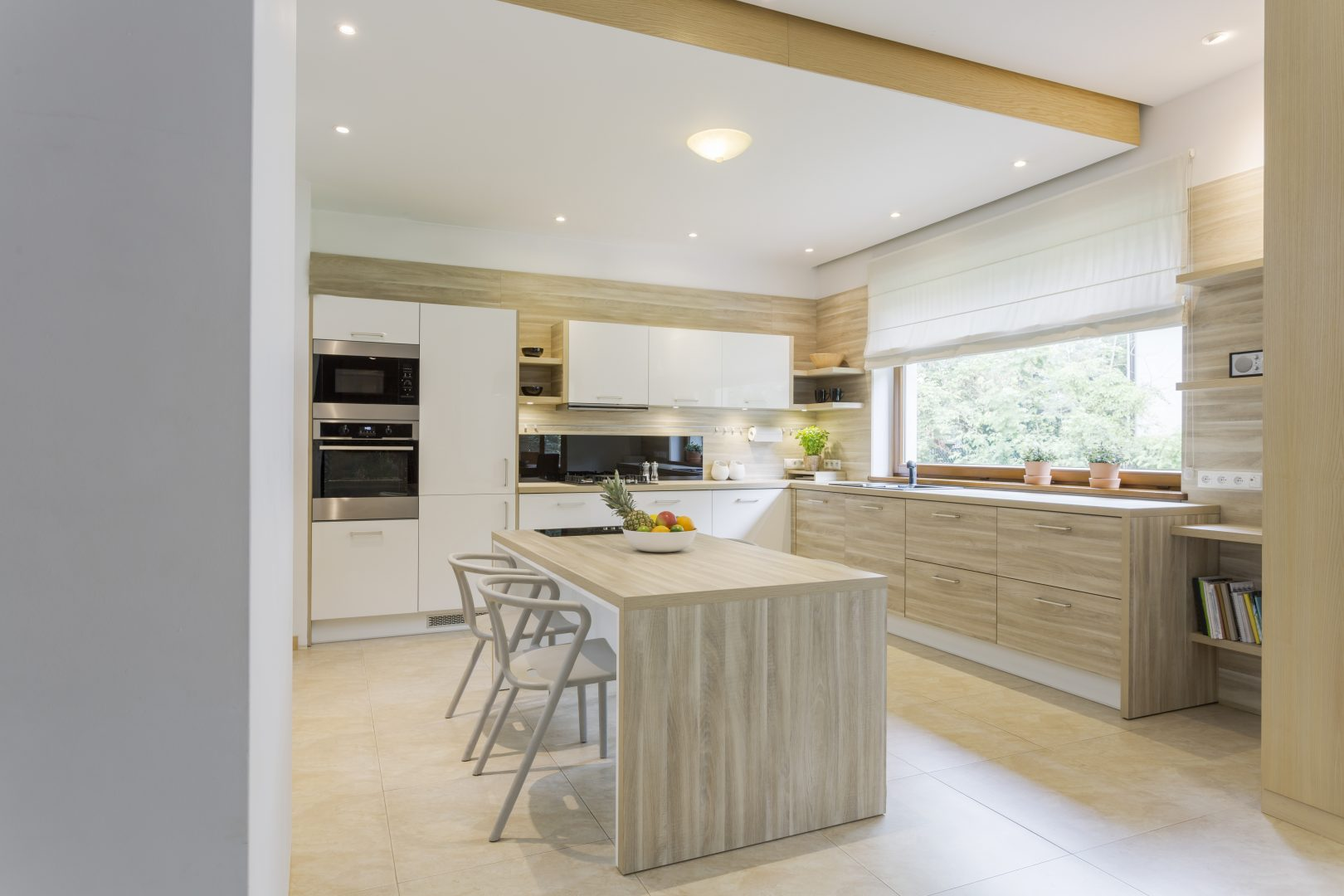 Kitchen in light colours